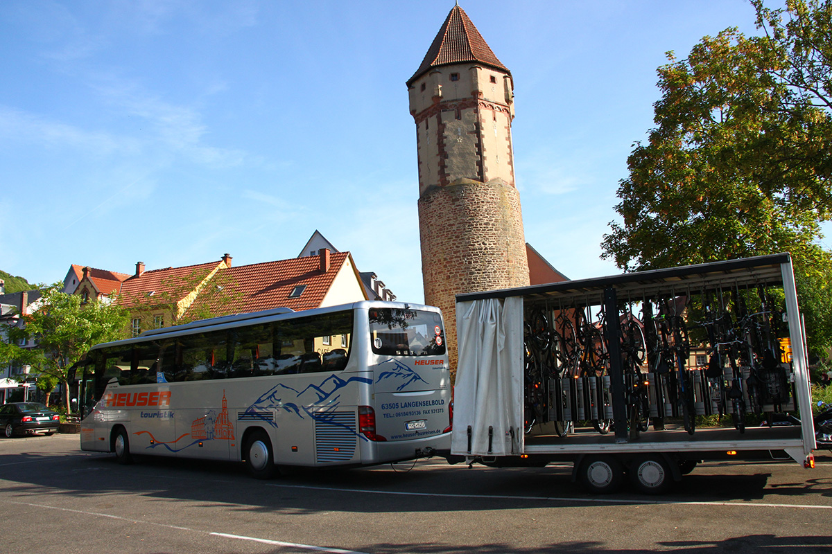Busreise mit Fahrrädern